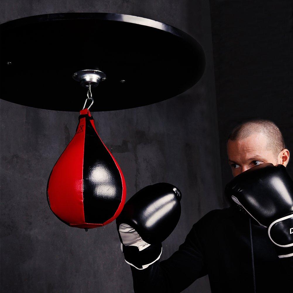 Desde 177 hasta 185 cm 4 Niveles CCLIFE Soporte Saco Boxeo Saco de Boxeo y Altura Regulable por Bola Velocidad pera Boxeo
