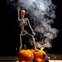 ProXRacer 36'' Skeleton Halloween Decoration Sound Activated with Illuminated Eye