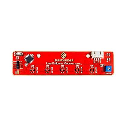 Line Tracking Sensor Infrared IR Detection - SunFounder I2C 5-Channel Line  Follower Module for Raspberry Pi Arduino Smart Car Robot Robotics MCU