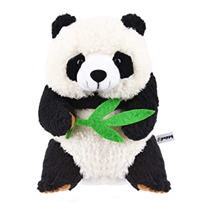 APUPPY Talking Panda, Repeats What You Say Plush Animal Toy Buddy Panda for Boys Girls Kids Gift: Toys & Games