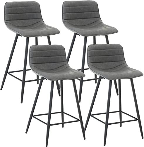Bar Stools Set of 4 Counter Height Stools 25 Faux Leather Counter Bar Stools Chair