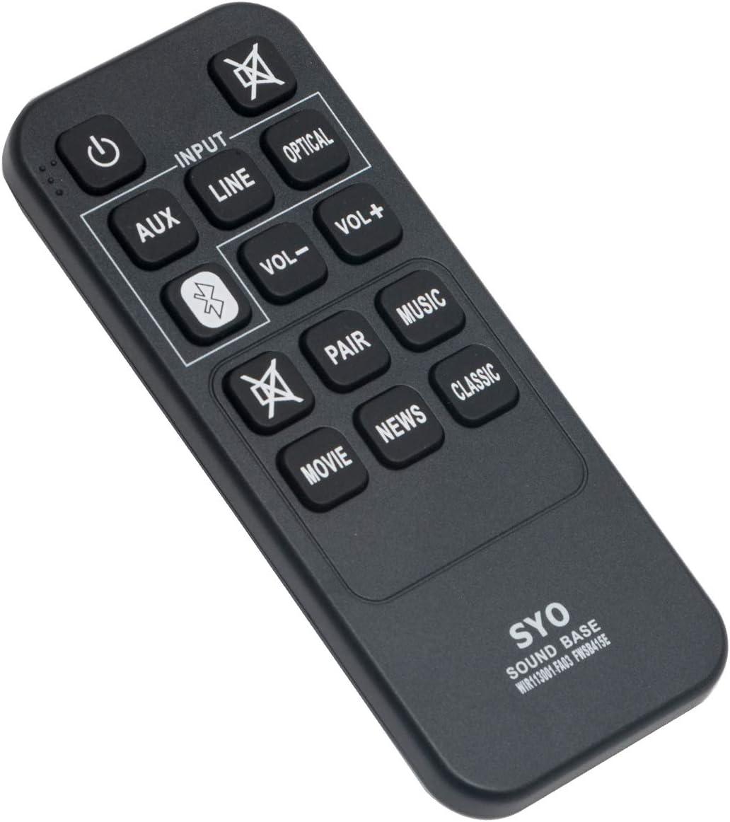 WIR113001-FA03 Replace Remote Control Applicable for Sanyo 2.1-Channel Sound Bar FWSB415E FWSA205E