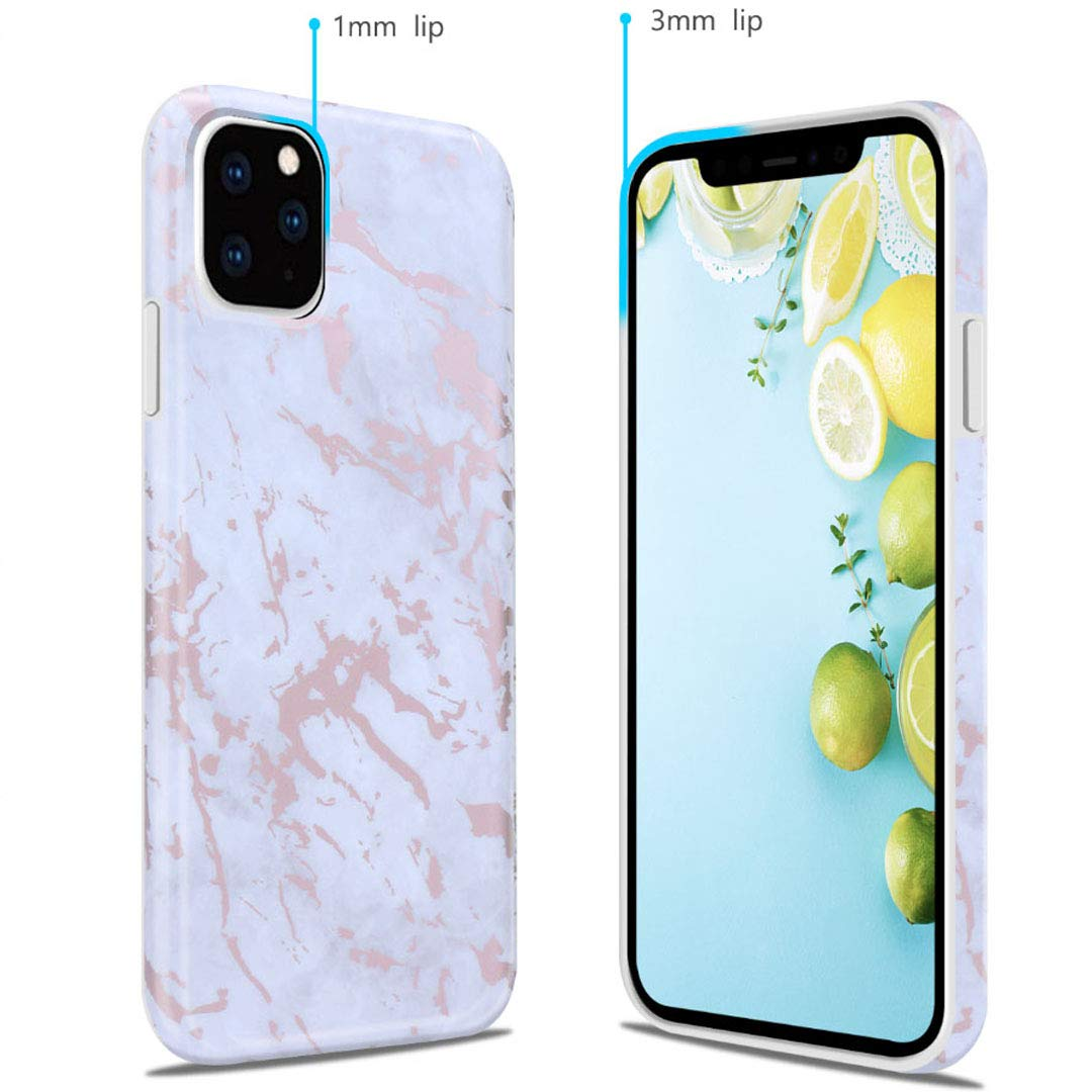 iPhone 11 Pro 2019 5.8 Case, Ranyi Gold Stamping Marble Pattern [Support Wireless Charging] Shock Absorbing Flexible Resilient TPU Rubber/Silicone Case for Apple 2019 5.8 Inch iPhone 11 Pro (4) by Ranyi