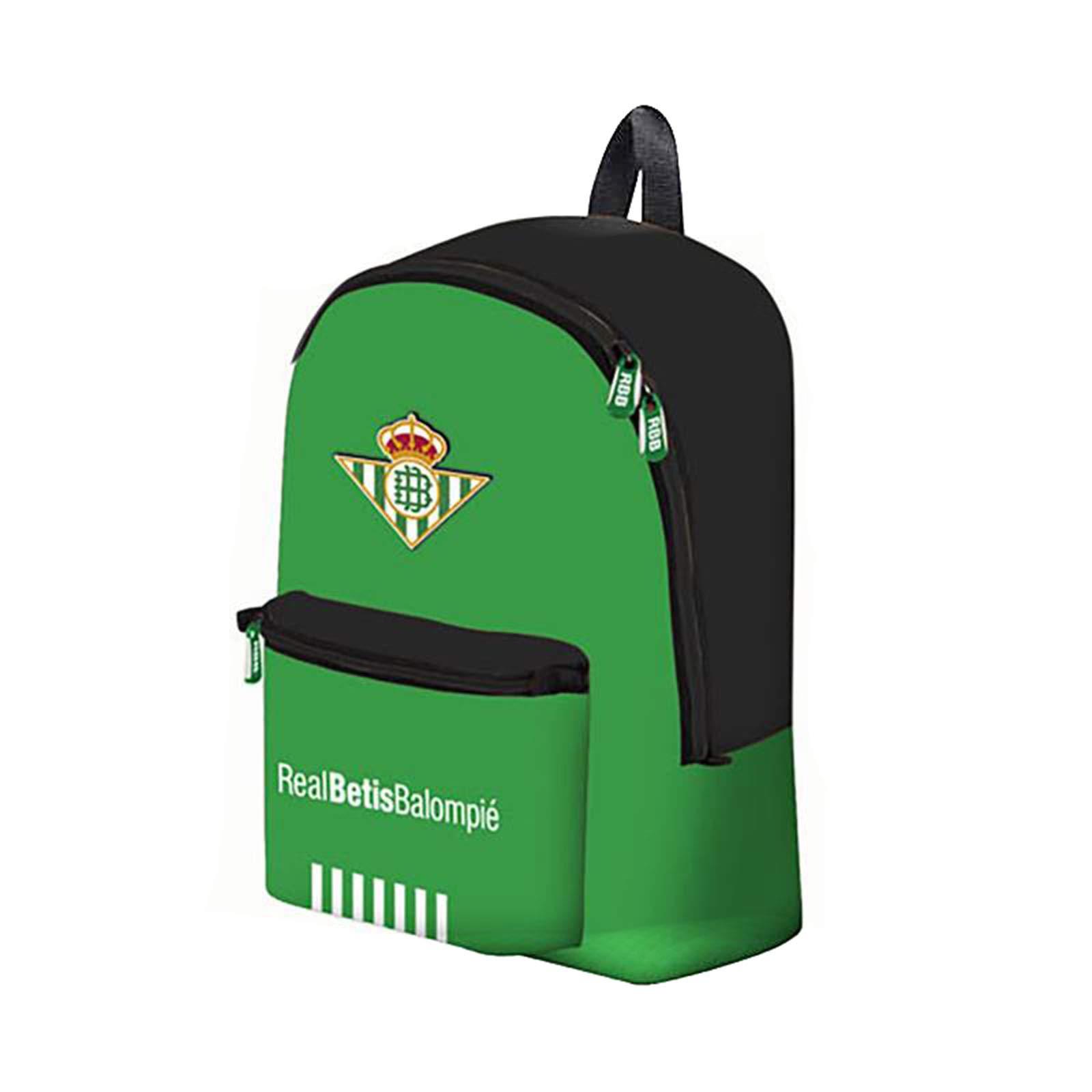 Mochila Grande Real Betis 2018/2019 Double Zipp. Medidas: 36X16X42CM: Amazon.es: Libros