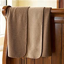 Throw Blanket 50 x 60 Inch, Lightweight Bed Throw, Brown Couch Throw, Super Soft Warm Plush Blanket Throw for Baby