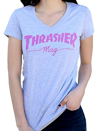 Image Unavailable. Image not available for. Color  Thrasher Magazine Logo  V-Neck T-Shirt Womens ... eaf965c56