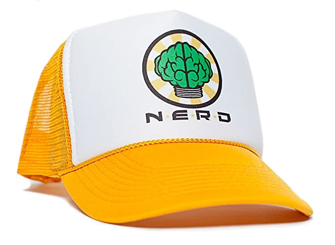 46027eeed1ec58 Image Unavailable. Image not available for. Color: NERD Unisex-Adult One-size  Trucker Hat Gold