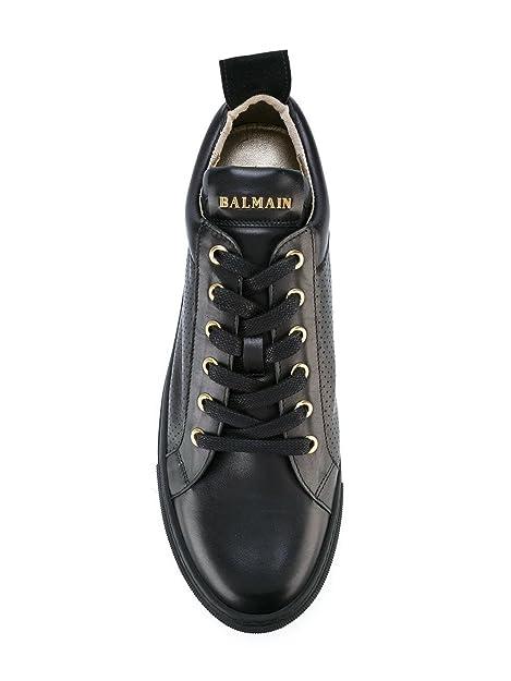 Balmain Sneakers Uomo S7HA303P038176 Pelle Nero: Amazon.it