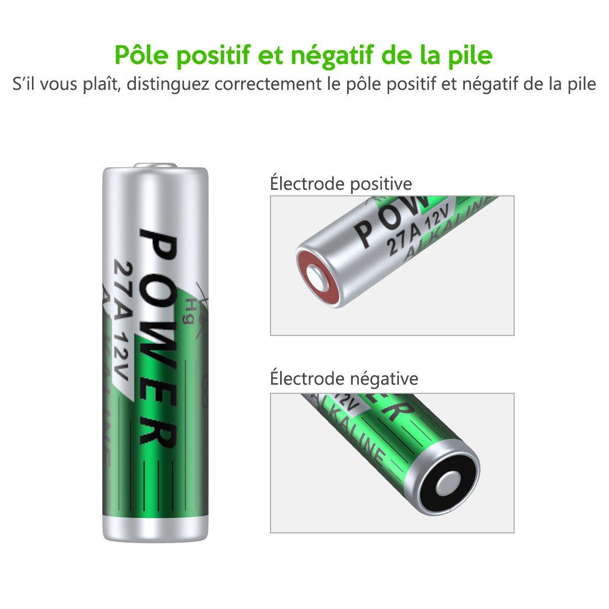 EBL 27A Piles Ni-Mh Batterie Longue Durée de Conservation (27A Piles*5)