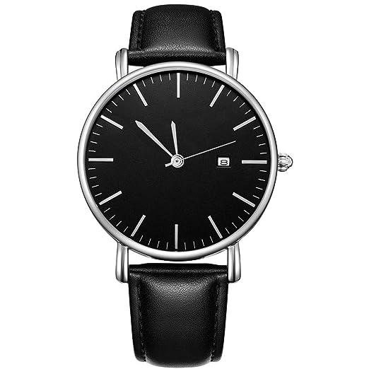 VEHOME Reloj de diseño Casual de Negocios - Reloj de Acero Inoxidable para Pareja-Relojes Inteligentes relojero Reloj reloje hombresRelojes de Pulsera ...