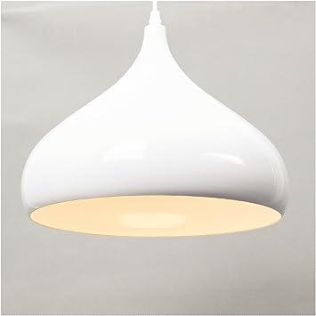Lámpara colgante techo industrial metal blanca grande