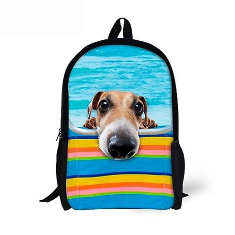 1e0e5c437db6 Horeset School Backpack 3D Cute Animal Print Rucksack Travel College Kids  Travel Daypack Shoulder Laptop Bag for Girls boy men Women Student 7