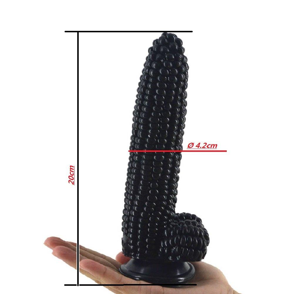 Corn consolador realista y tapón anal - fuerte lechón material de de material PVC médico - masaje vaginal masturbación femenina-1.65inch by 7.87inch,black 2f8228