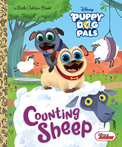 Counting Sheep (Disney Junior Puppy Dog Pals) (Little Golden Book)