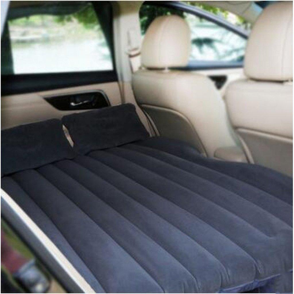 車のインフレータブルクッション後列座席インフレータブルベッドエアベッドのベッドの車のベッドは、フロッキングを厚くする - ブラックファイルなし(多色オプション) B07FLHDHB2  Black