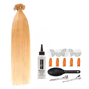 Blonde Bonding Extensions Aus 100 Remy Echthaar 100x 1g 50cm