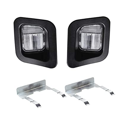 Amazon HERCOO License Plate Lights Lamp Lens Black Clips