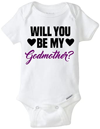 Will You Be My Godmother Infant Onesie (Newborn)