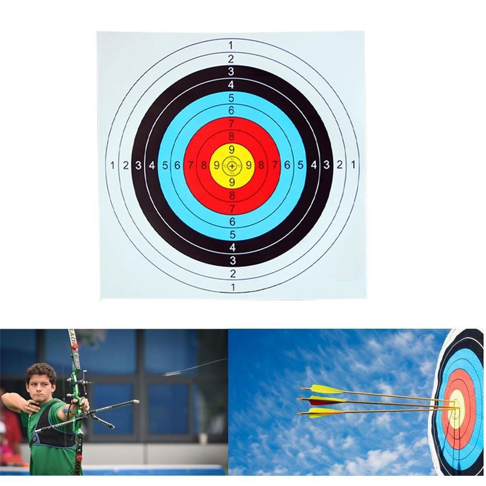 zhuotop tiro con arco y ballesta papel Target caras 40x 40cm