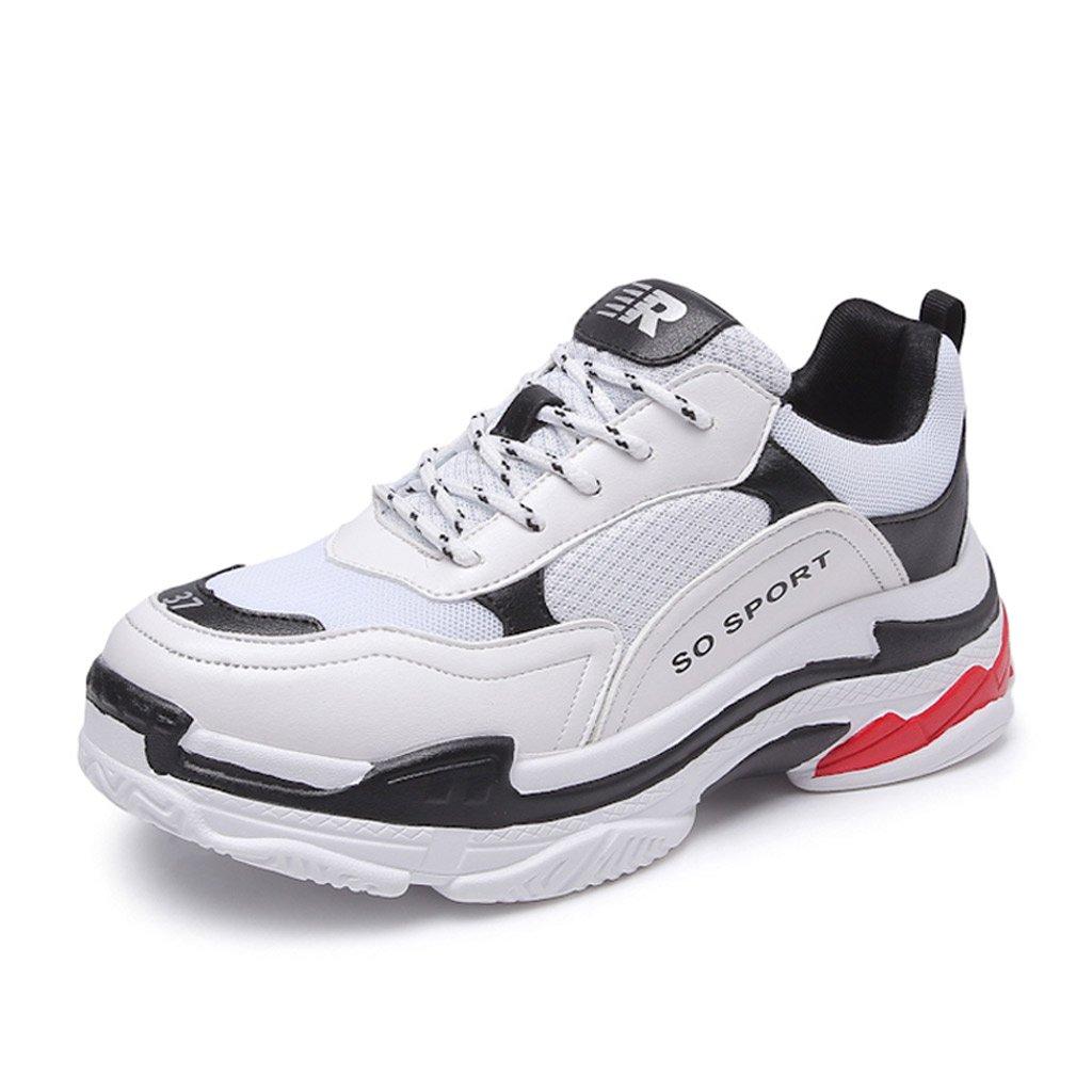 SHI Zapatos Deportivos de Mujer Zapatos de Moda con Cordones Zapatos Planos Ocasionales del monopatín del Estudiante (Color : Blanco, Tamaño : 36) 36|Blanco