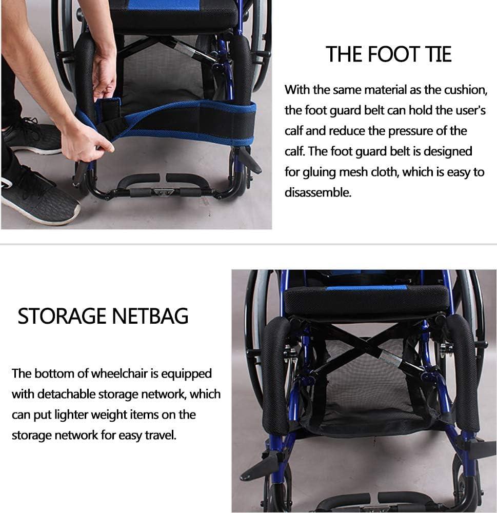 Amazon.com: Silla de ruedas deportiva y de ocio, portátil ...
