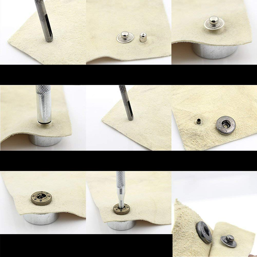 10sets/Pack Metal Press Studs Sewing Button Snap Fasteners Antique ...