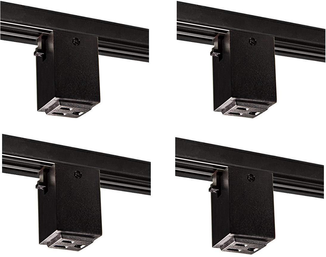 Nora Lighting NT-327B Outlet Adapter Track Accessory (4 Pack)