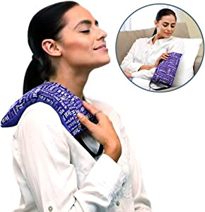 Heat Therapy Pack - Mighty Relief Pillow - Scented Heating Pads for Cramps, Headaches, Stress Relief – Microwavable, Natural Spa Relaxation & Arthritis Remedy by HTP Relief (Purple)