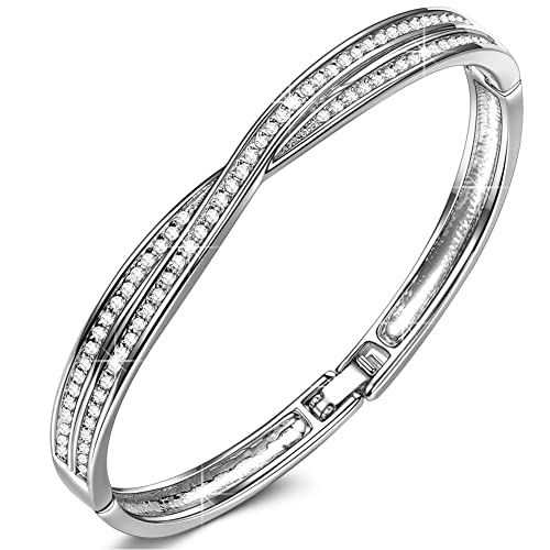 525c06f9035a8 LADY COLOUR ♥ Waltz of Love ♥ Platinum Plated Women Bracelet, Crystals from  Swarovski, Best Gift Idea Hypoallergenic Jewelry Gift Box Packing, ...