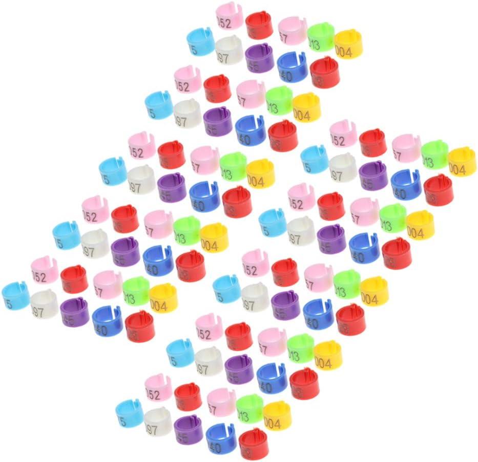 non-brand 50 Pcs Anillos Identificación Colorido Raza Complimentos Mascota Color Brillante Ecológico Duradero