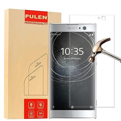 Sony Xperia XA2 Protector de Pantalla, PULEN Vidrio Cristal Templado Vidrio Templado [EASY-