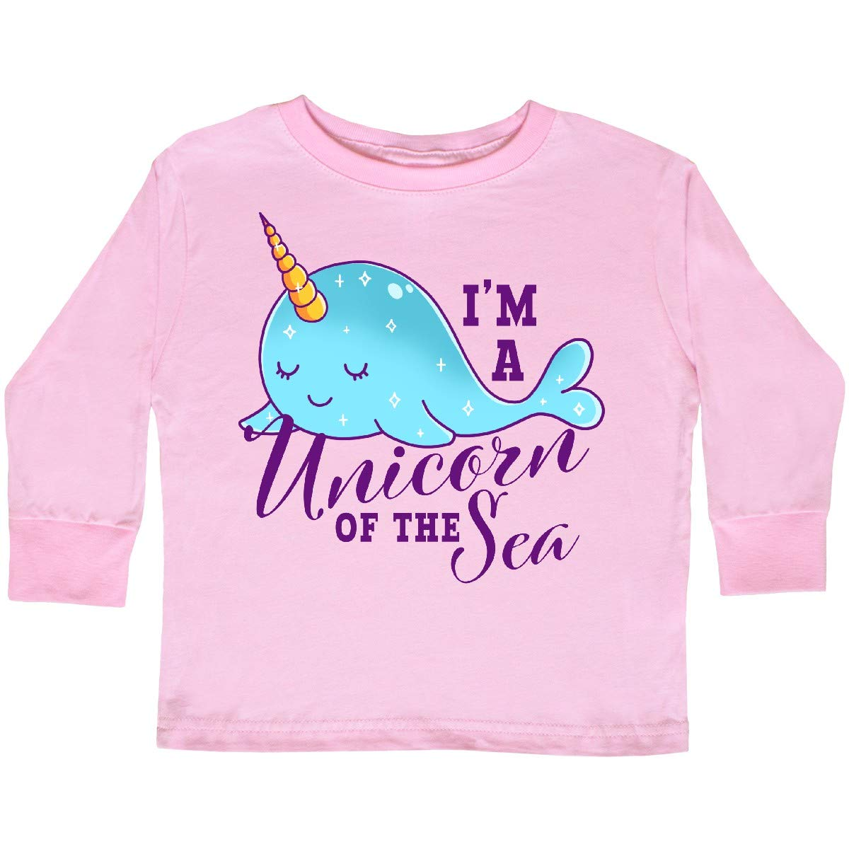 inktastic Cute Narwhal Im a Unicorn of The Sea Toddler Long Sleeve T-Shirt