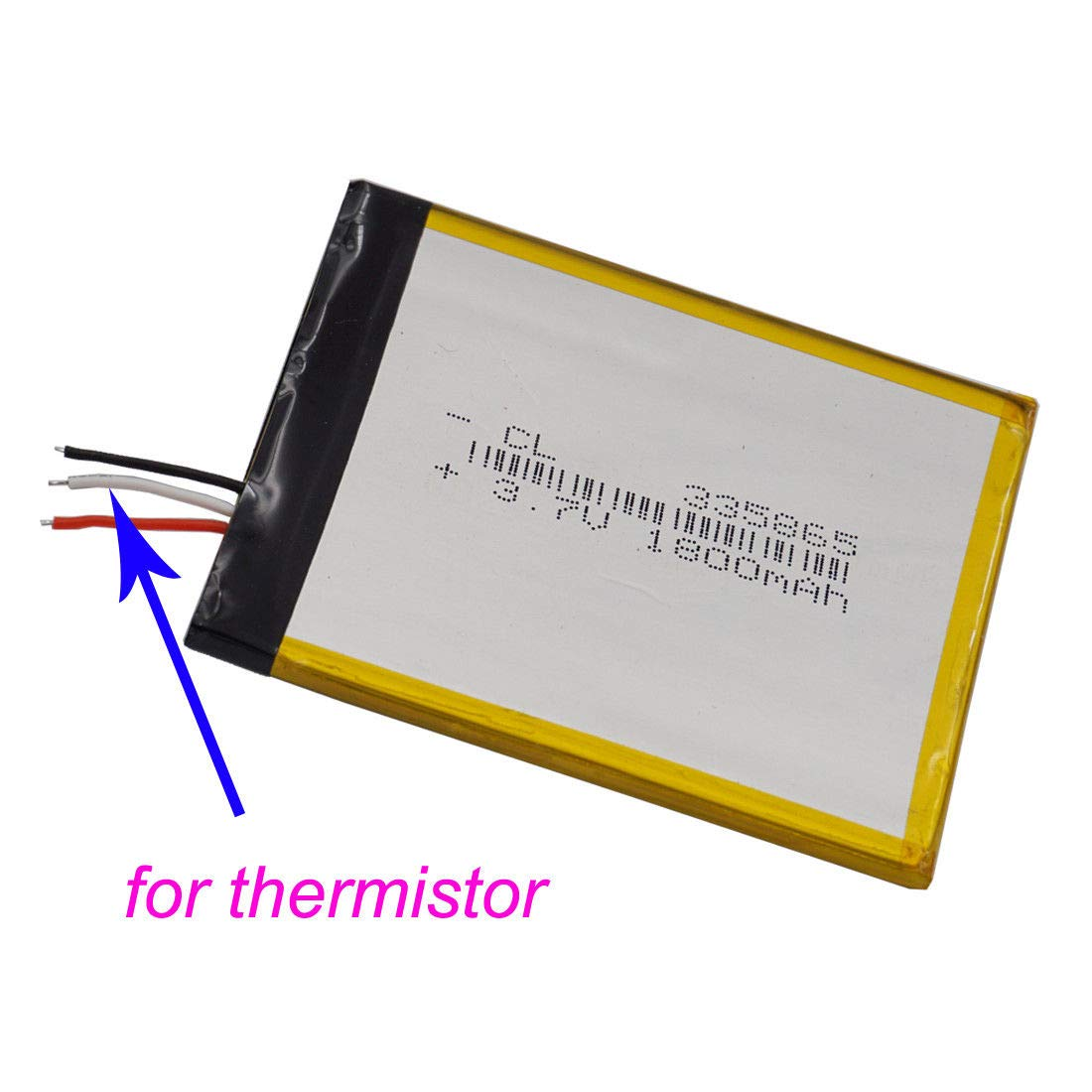 Fidgetfidget Polymer Battery 37v 1800 Mah 3 Wires Thermistors Wiring In Parallel Thermistor For Tablet Pc 335865 Electronics