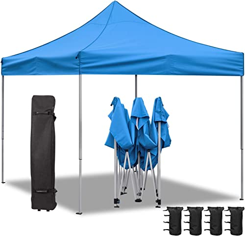 Homall 10X10 Ft Pop Up Canopy Ez Up Canopy Tent Commercial Instant Shelter Patio Sun Shade Canopie
