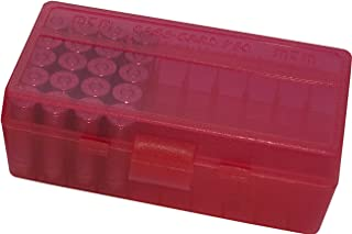 product image for MTM 50 Round Flip-Top Ammo Box 38/357 Cal (Clear Red)