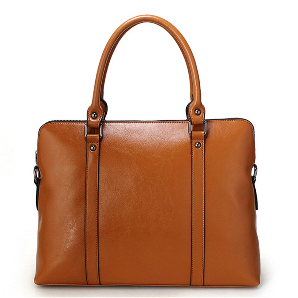 MUPO Womens Brisfcase Large Capacity For 14 inch laptop 15110201 Oil wax leather Bag