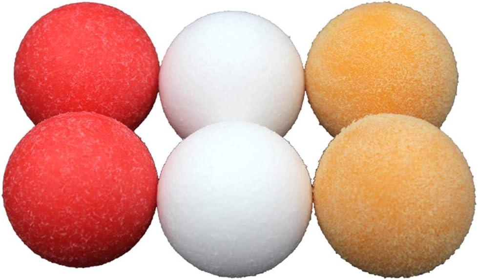 COSDDI 6 pelotas de fútbol con textura clásica oficial de 36 mm para mesas de futbolín estándar y pelotas de fútbol clásicas para mesa, Red+White+Yellow: Amazon.es: Deportes y aire libre