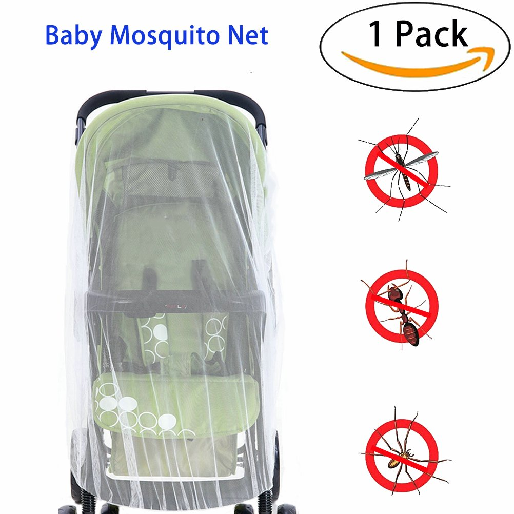 Baby Mosquito Net for baby Strollers, Carriers, Car Seats, Cradles, Pack'n'Plays, Cribs,Bassinets & Playpens. High Density Baby Insect Netting Elastic & Breathable By Sportsvoutdoors Pack'n'Plays