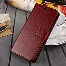 MEIZU MX5 case, solid color pattern wallet style case magnetic design flip folio PU Leather cover standup cover case for MEIZU MX5 ( Color : Brown-MEIZU MX5 )