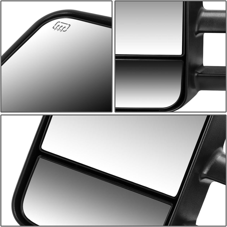 03-07 Silverado//Sierra DNA MOTORING TWM-001-T111-BK-L Powered Tow Mirror Heated Left