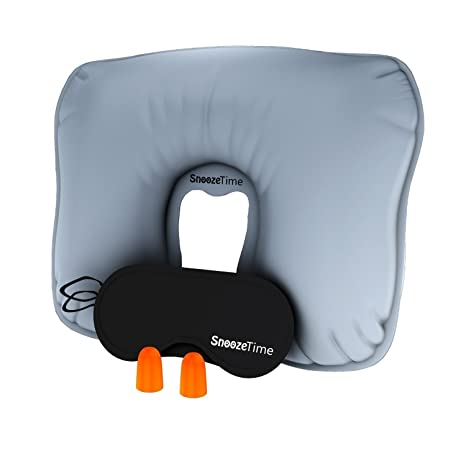 Amazon.com: Viajar Almohada Inflable Blow Up Support cuello ...