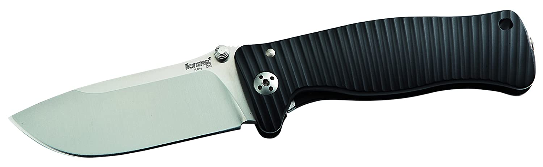 LionSteel Messer SR-2 Aluminium Schwarz, 01LS023