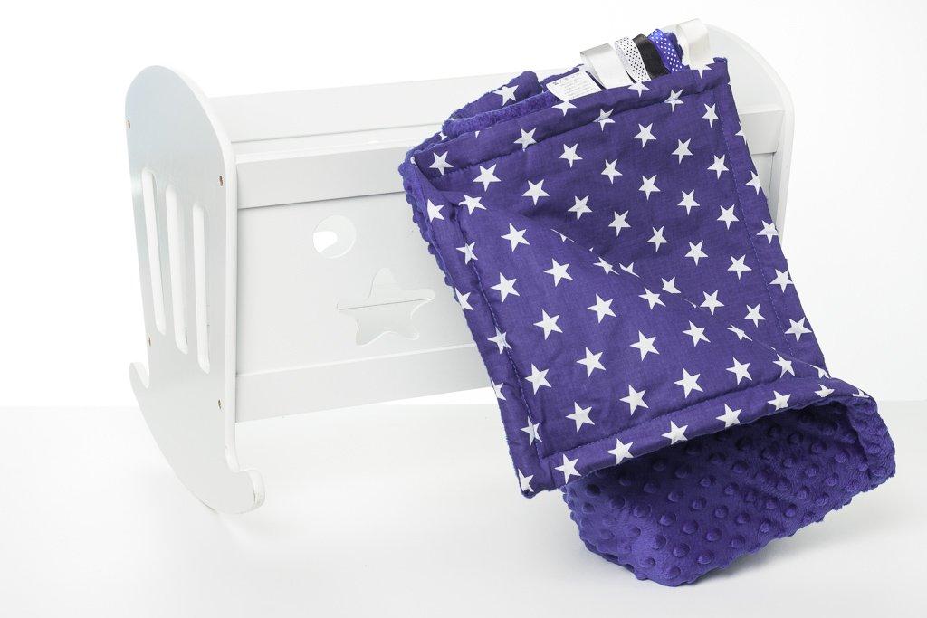 Azul beb/é + Puntos peque/ñas 1buy3 Minky Manta Forrada para beb/é Manta calentita 75 x 100 cm Manta de Felpa Manta para beb/és
