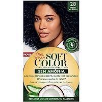 Tinta de Cabelo Soft Color Preto Azulado 28, Soft Color, Preto Azulado 28
