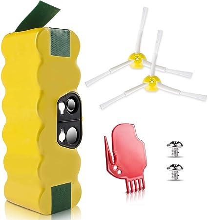 morpilot Batería de Reemplazo para iRobot Roomba, 4050mAh Ni-MH Batería Compatible con iRobot Roomba Series 500 600 700 800 900 con Accesorios de Cepillos y Atornillos: Amazon.es: Hogar
