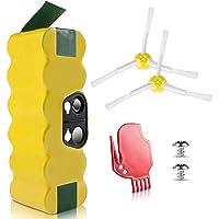 morpilot iRobot Roomba Batería, 4050mAh Ni-MH Batería para iRobot Roomba Series 500 600 700 800 900 con Accesorios de Cepillos y Atornillos