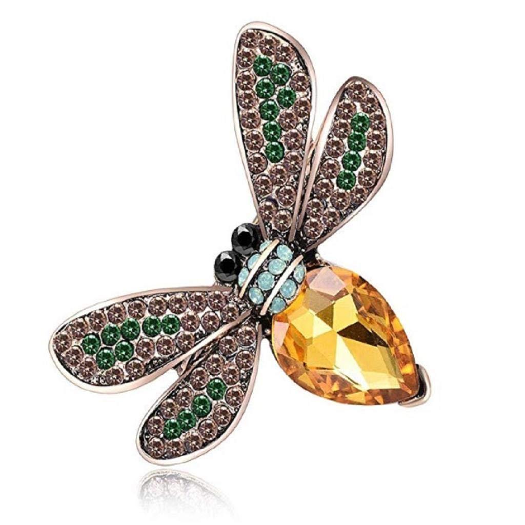 Poranelec Bee Brooch Rhinestone Shiny Fashion Charms