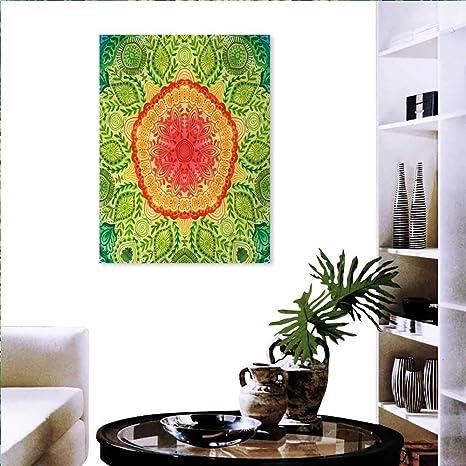Etnico Moderno Wall Art Soggiorno Decorazione Foglie Vintage ...