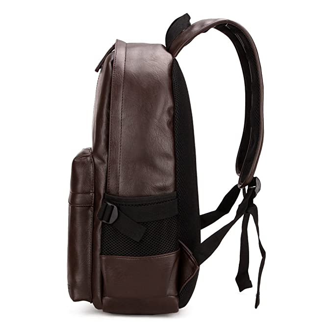 683b72b5a4 VICUNA POLO PU Leather Men Backpack 15inch Laptop Bag Travel Rucksack  Casual Daypack Travel Bag School Bag (brown)  Amazon.co.uk  Clothing