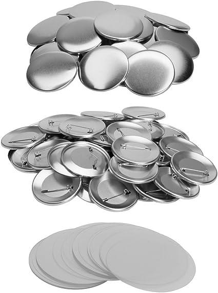 """100 Stück Drehen Badgemaker Button Maker Abzeichen Buttonmaschine 75mm 3/"""""""